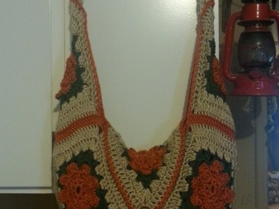 #Crochet Granny Square Handbag Purse #TUTORIAL #65