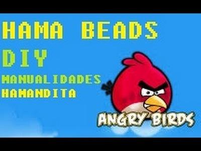 DIY ANGRY BIRD RED PAJARO ROJO HAMA BEADS MANUALIDADES Hamandita