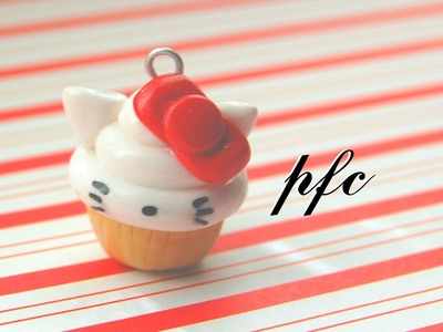 DIY Hello Kitty Cupcake Polymer Clay Charm Tutorial