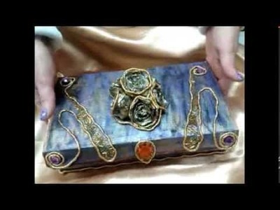DIY Organizador de accesorios. Jewelry organizer ( manulaidades)