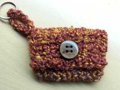 Easy #Crochet #keychain coin #purse wrist #wallet #TUTORIAL #45