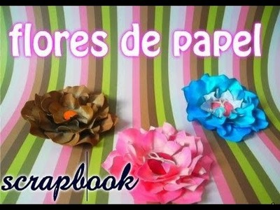 Flor de papel Scrapbook