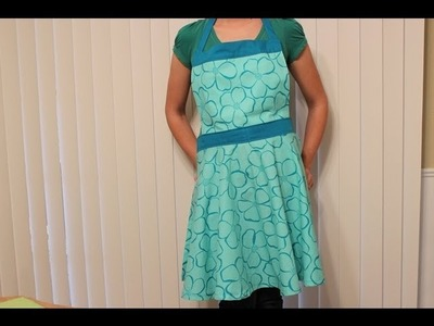 Full Length Apron Tutorial DIY- Whitney Sews