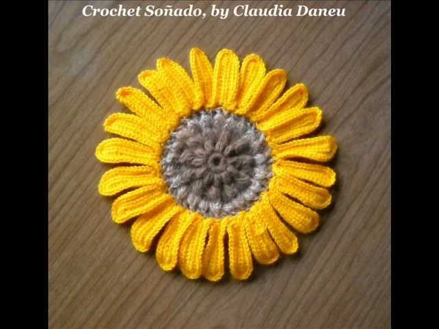 GIRASOL (AL CROCHET). (CROCHETED) SUNFLOWER