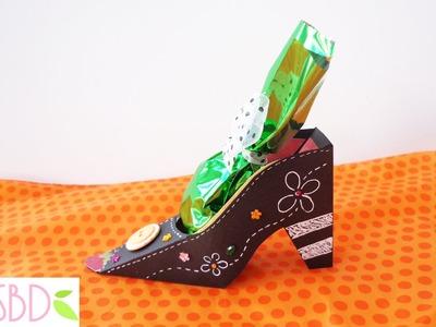 Halloween: Scatola scarpa da Strega porta dolcetti - Witch shoe sweets box