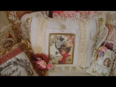 Handmade shabby chic victorian lavender cushions & crafts 2012 by jackie