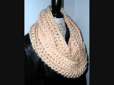 Infinity Scarf Winter White Cream Color Designer Scarf Handmade Crochet by 2 Sisters Handmade