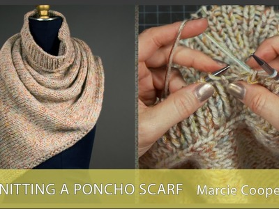 Knitting a Poncho Scarf - Preview