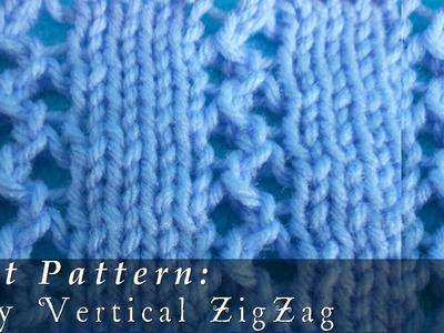 Lacy Vertical ZigZag | Pattern { Knit }