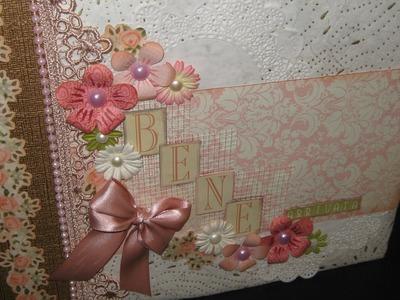 Mini album Baby Girl- Scrapbooking Tutorial | Scrapmary