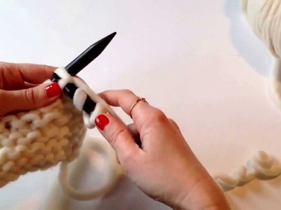 Punto bobo. Punto musgo. Tejer del derecho. How to knit. Knit stitch