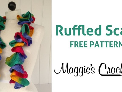 Starbella Strata Ruffled Scarf Free Crochet Pattern - Right Handed
