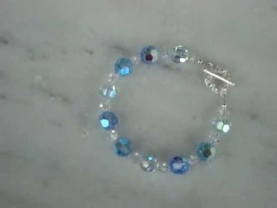 Swarovski crystal blue tone candy bracelet