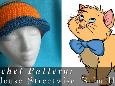 The AristoCats | Toulouse Inspired Brim Hat { Crochet }