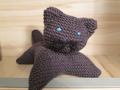 TUTO TRICOT APPRENDRE A TRICOTER UN CHAT TRES FACILE !!!!!!! EASY CAT KNITTING