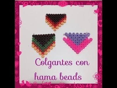 Tutorial español hama beads colgante.hanging