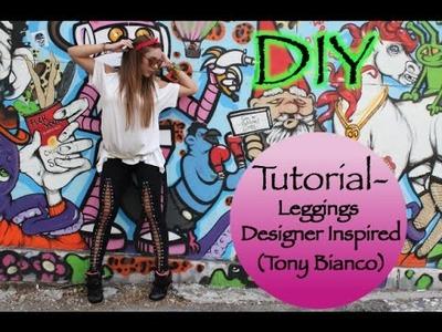 Tutorial- Leggings Designer Inspired (Tony Bianco) (DIY)