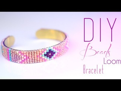 TUTORIEL - DIY : BRACELET EN PERLE & METIER A TISSER AZTEC NAVAJO -Bead loom bracelet (english subs)