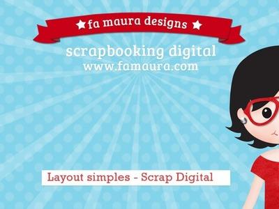 4°EP. ★ Tutorial simples *layout* primeiros passo scrapbooking digital