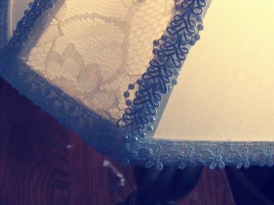 DIY: Custom Lace Lamp Shade