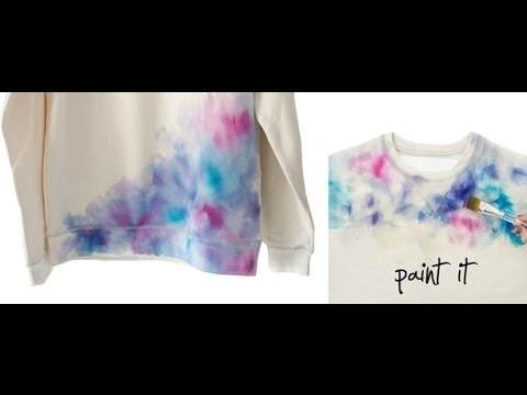 DIY: Tie Dye con pinceles