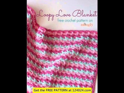 Half double crochet baby blanket pattern
