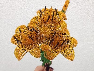 Lilien aus Perlen. Teil 2.3.