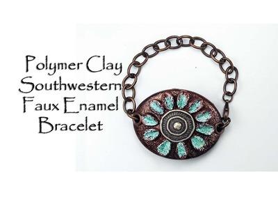 Polymer Clay Tutorial Southwestern Faux Enamel Bracelet