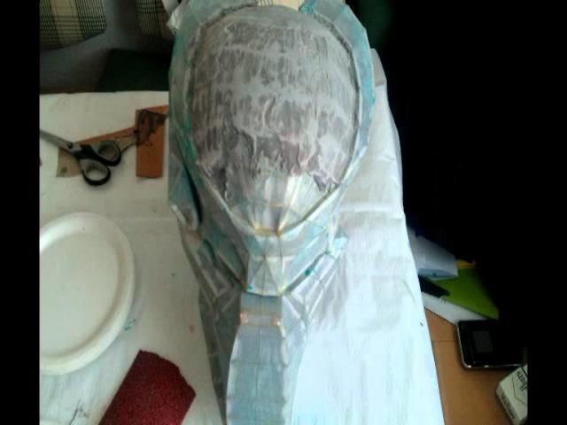 Predator helmet papercraft