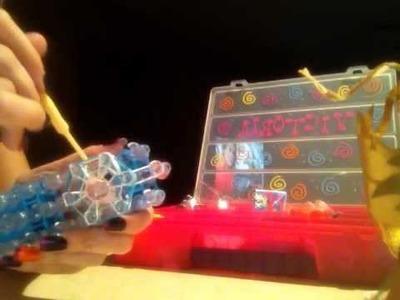 Rainbow loom snowflake
