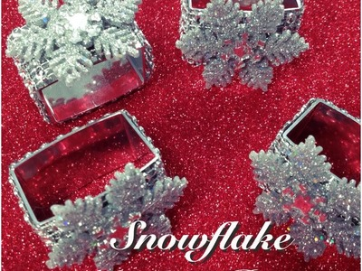 ❆ Snowflake Napkin Rings   D.I.Y # 9