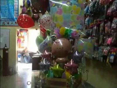 Arreglo con globos paso a paso de baby shower
