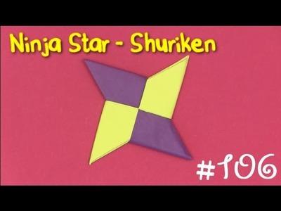 Cool Origami Ninja Star (Shuriken)   Como hacer un shuriken de papel origami