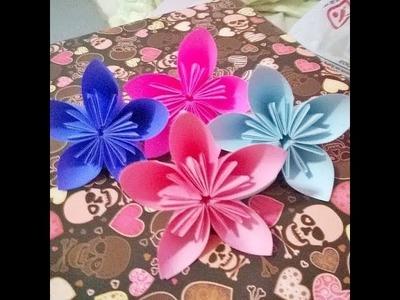 DIY   Flores de Origami
