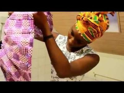 DIY  Peplum top  (African Print)