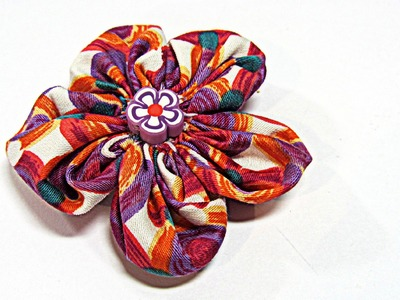 Flor FACIL de tela. Fabric flowers.
