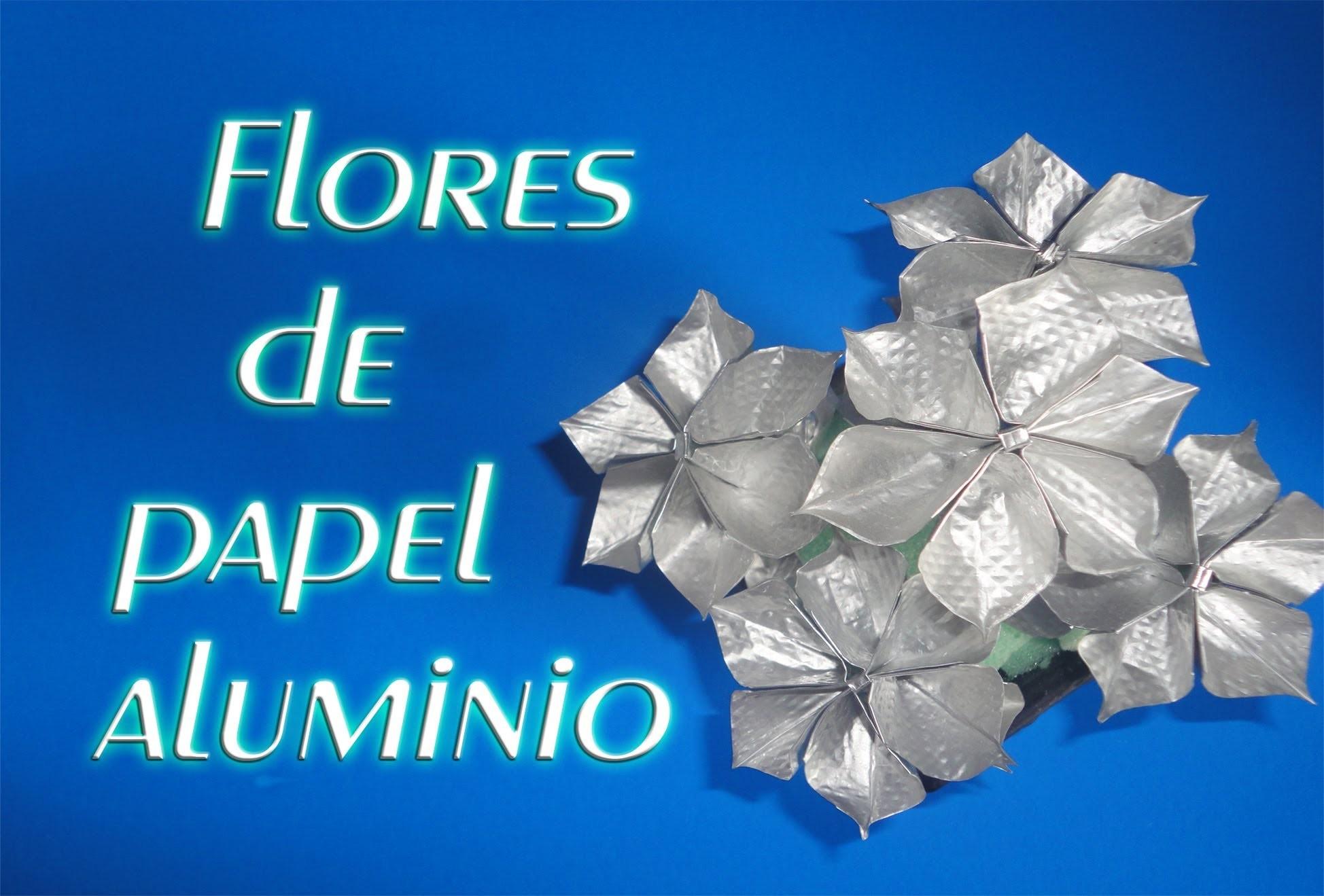 Flores de papel aluminio - Aluminum Flowers✿.✿