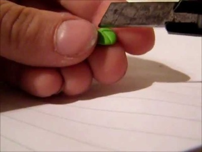 Framboos oorbellen tutorial Polymer Clay