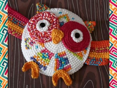 Hibou en crochet -tricot animaux knitting