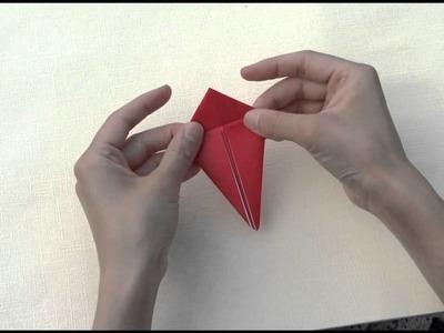How to fold origami crane