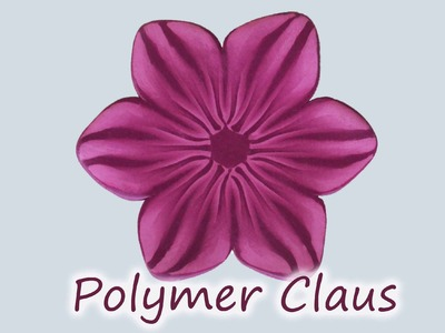 Millefiori cane: Pink Flames Flower (polymer clay tutorial fimo tutorial)