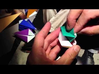 Origami modular star - inadvertent asmr