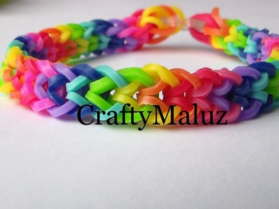 Pulsera De Gomitas. Rainbow Loom Iverted Fishtail