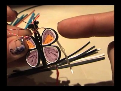 Quilling butterfly part 1