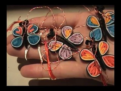 Quilling butterfly part 2