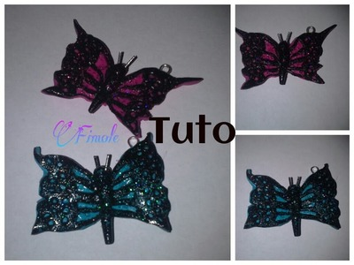 Tuto fimo papillon. polymer clay butterfly