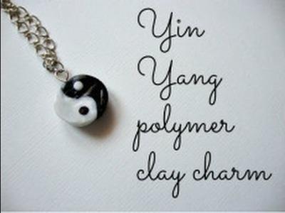 Yin Yang Polymer Clay Charm