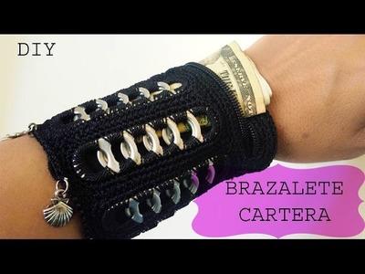 Brazalete-Cartera con anillas de aluminio.Aluminum Pop Tab Cuff-Wallet