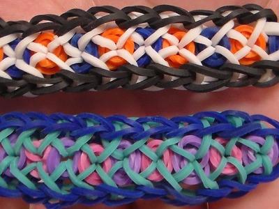 Como Hacer Pulsera de Gomitas Confetti. Rainbow Loom Confitti Criss Cross