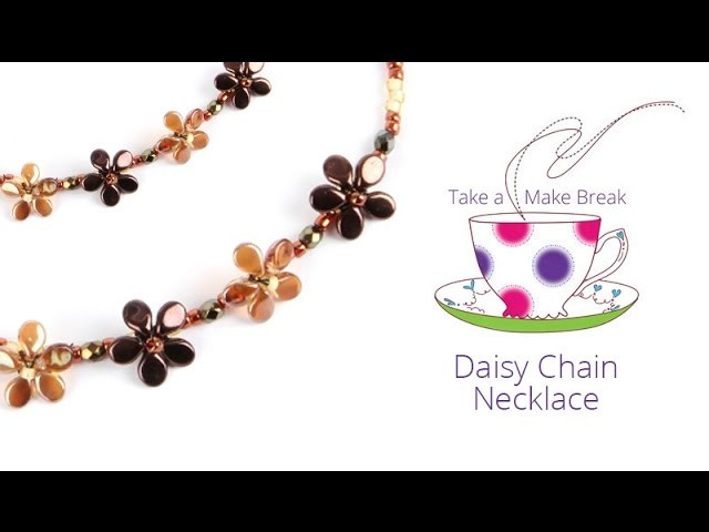 Daisy Chain Necklace   Take a Make Break with Sarah
